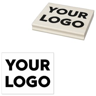 Large Custom Business Company Logo Rubber Stamp
