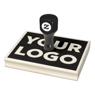 Large Custom Business Logo Rubber Stamp