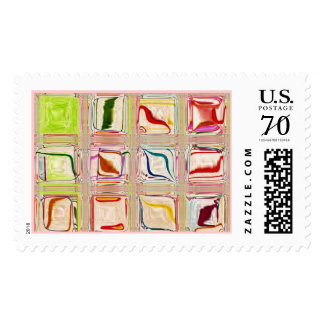 large custom candy glass tile postage