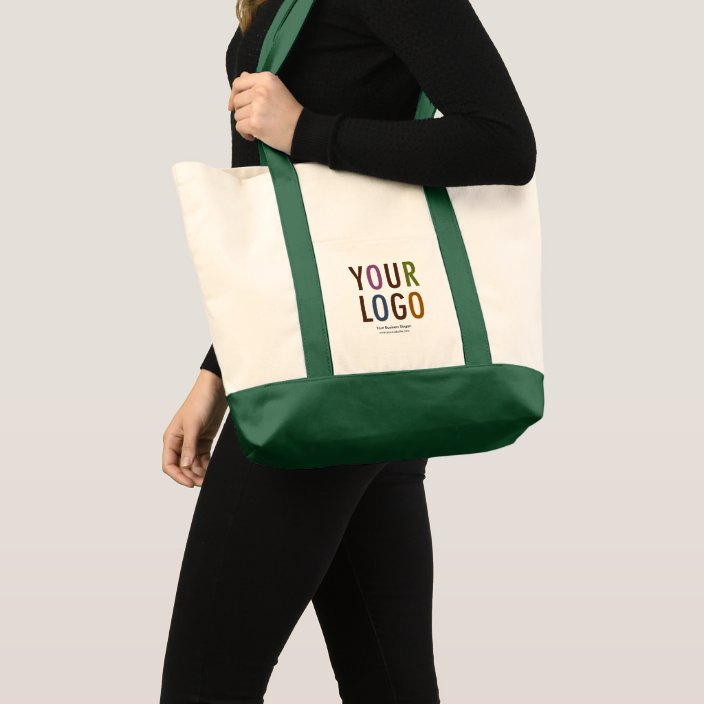 Large Custom Canvas Tote Bag With Logo