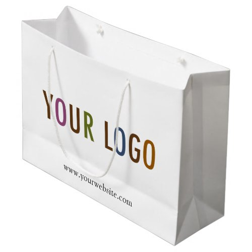 Large Custom Paper Shopping Bag with Company Logo