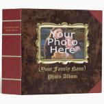 Large Custom Vintage Frame Photo Album Vinyl Binders