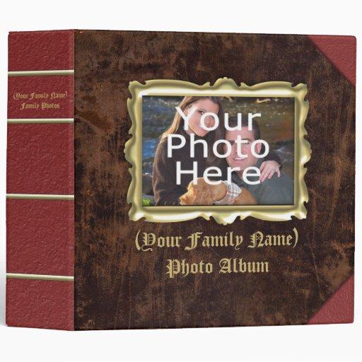 Large Custom Vintage Frame Photo Album 3 Ring Binders