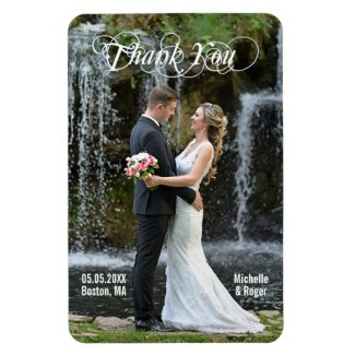 Large Custom Wedding Thank You Photo Flexi Magnet
