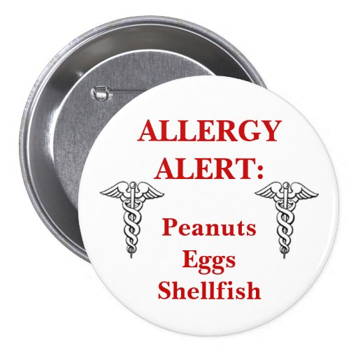 Large Customizeable allergy button