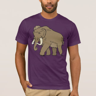 Large Cute Cartoon Woolly Mammoth T-Shirt
