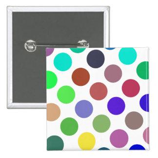 Large Cyan And Blue Dots Pin