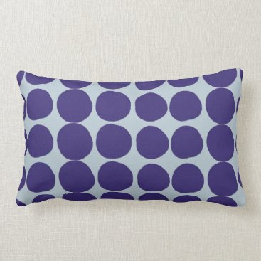 Beach Themed Large dark blue dots lumbar pillow