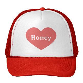 Large Dark Pink Heart -Monogram Trucker Hat