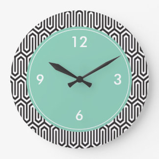 Large Decorative Wall Clock Abstract Pattern