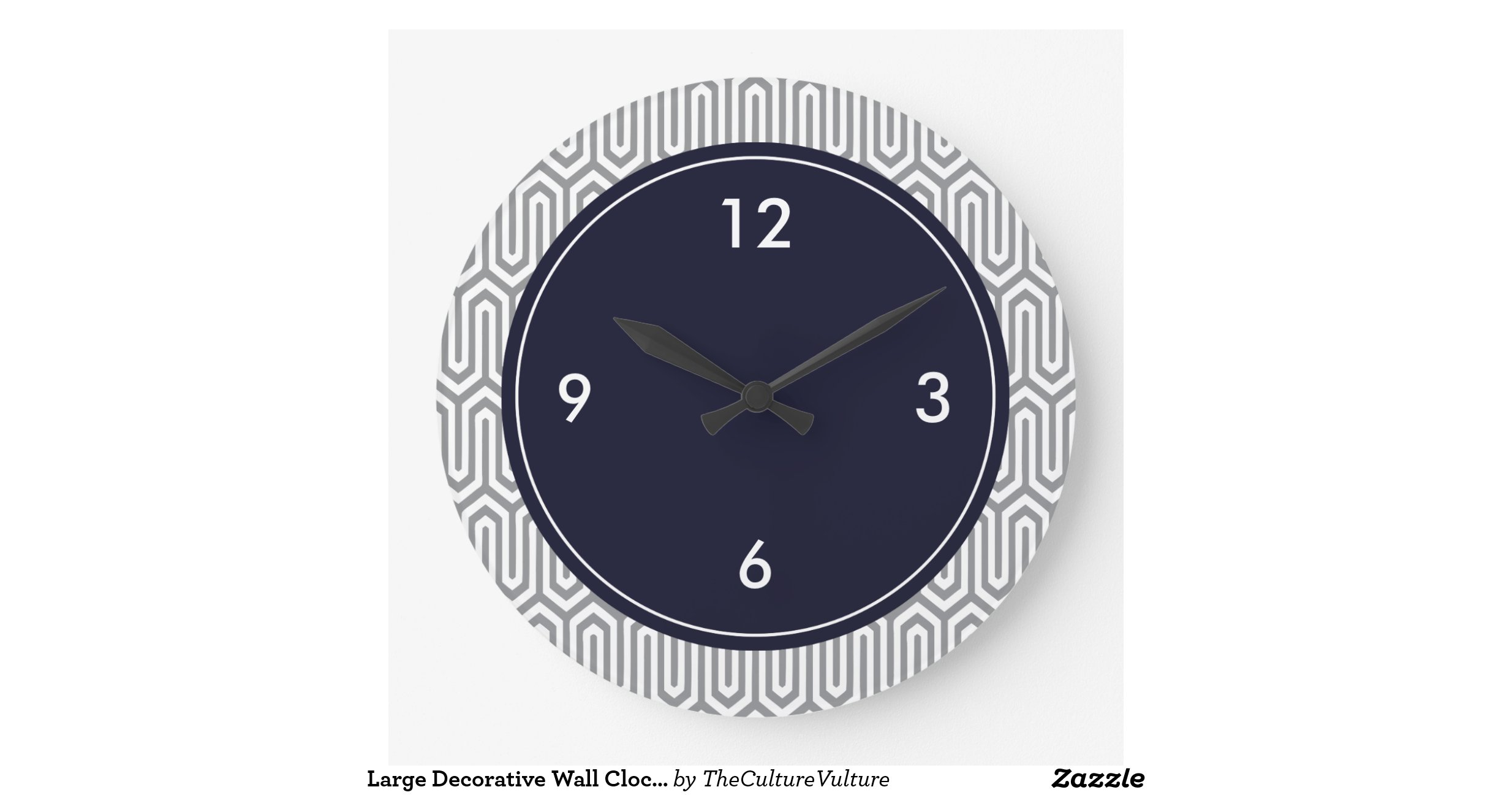 Large Decorative Wall Clock Abstract Pattern Raf3ad3be40dd41f6bc31730e60daf02