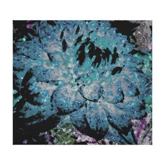 Large Deep Aqua Blue Dahlia Canvas Print