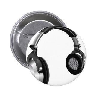 Large DJ Headphones Button