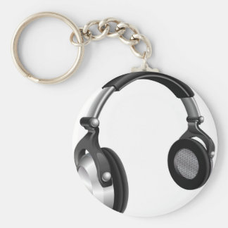 Large DJ Headphones Keychains