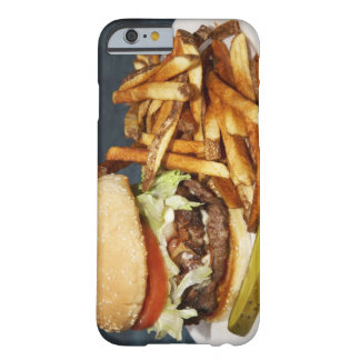 large double half pound burger fries and cola barely there iPhone 6 case