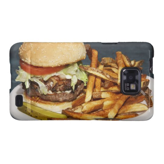 large double half pound burger fries and cola galaxy SII cover