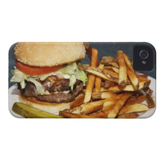 large double half pound burger fries and cola iPhone 4 Case-Mate case