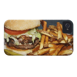 large double half pound burger fries and cola iPhone 4 cover