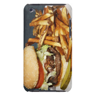 large double half pound burger fries and cola iPod touch case