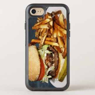large double half pound burger fries and cola OtterBox symmetry iPhone 8/7 case