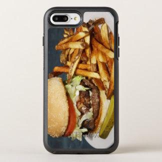 large double half pound burger fries and cola OtterBox symmetry iPhone 8 plus/7 plus case