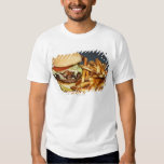 large double half pound burger fries and cola shirt