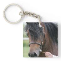 Large Draft Horse Keychain Square Acrylic Keychains