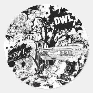 Large DWL Round Sticker