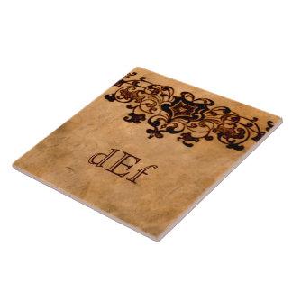 • Large • Elegant Monogram Tile