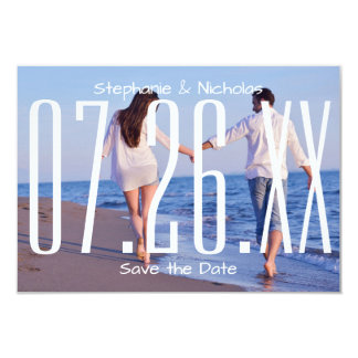 Large Empire Date & Photo-3x5Wedding Save the Date Card