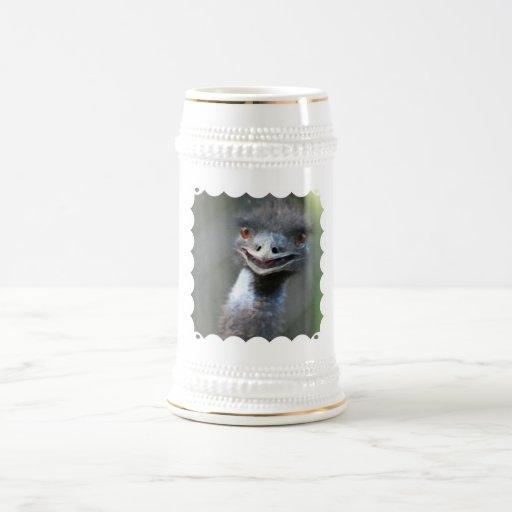Large Emu  Beer Stein 18 Oz Beer Stein