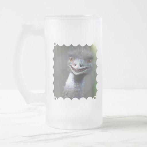 Large Emu Frosted Beer Mug