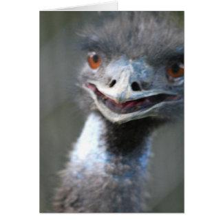 Large Emu  Greeting Card