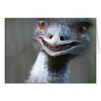 Large Emu  Greeting Cards
