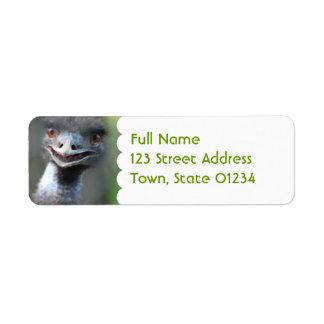 Large Emu Mailing Label