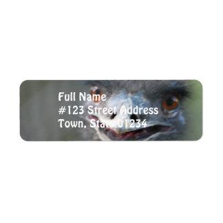 Large Emu Return Address Mailing Label