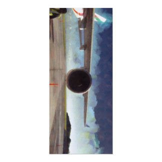 Large engine of plane 4x9.25 paper invitation card