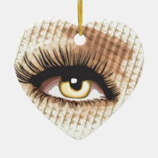 large-eye ceramic ornament