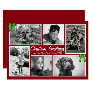 Large Family Multi-Photo Flat Christmas Cards