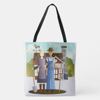 Large Farmer's Gothic Tote Bag