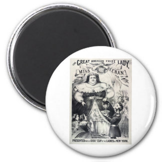 Large Fat Lady 2 Inch Round Magnet