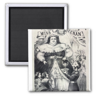 Large Fat Lady 2 Inch Square Magnet
