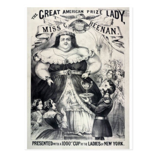 Large Fat Lady Postcard