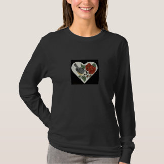 Large Finch with Poppies T-Shirt