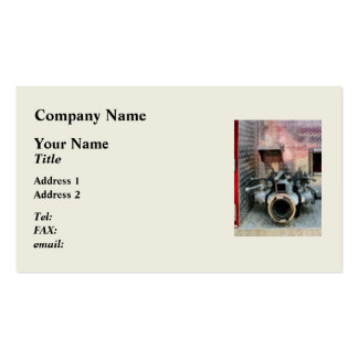 Large Fire Hose Nozzle Business Card Templates