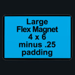 "Large Flex Magnet Template Vertical Fit Black BG<br><div class=""desc""></div>"