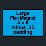 "Large Flex Magnet Template Vertical Fit Black BG<br><div class=""desc""></div>"
