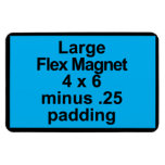 Large Flex Magnet Template Vertical Fit Black BG<br><div class='desc'></div>