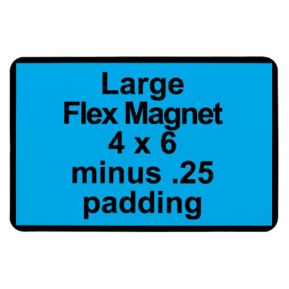 Large Flex Magnet Template Vertical Fit Black BG
