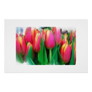 Large Floral Still Life on Canvas Posters